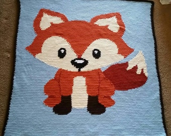 Crochet Baby Fox Blanket