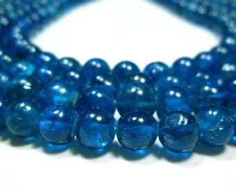 "Neon Apatite Mystic Smooth Bolls- 13""Strand -Stones measure- 6mm"