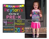 First Day of School sign- Customized Digital File