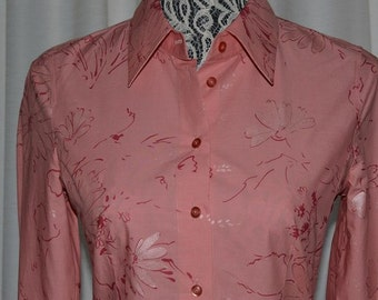 Hugo Boss Shirt buttoned shirt  Pink Shirt Flower Pattern shirt