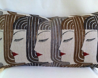 Single Lumbar Decorative Pillow Cover-Egyptian Design-Accent Kidney Pillow Cover-Free Shipping.
