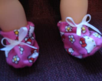 """Bitty Baby 15"""" Doll Clothes - Hello Kitty  Booties Slippers"""