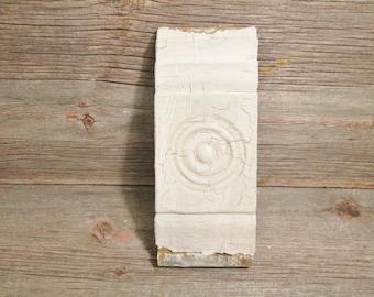 Salvaged Plinth Block Wood Bullseye Plinth Architectural Salvage Baseboard Molding