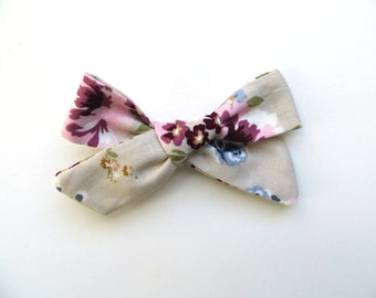 Hand Tied Hair Bows/One Size Fits All/Floral Bows/Little Girl's Bows/Vintage Bow