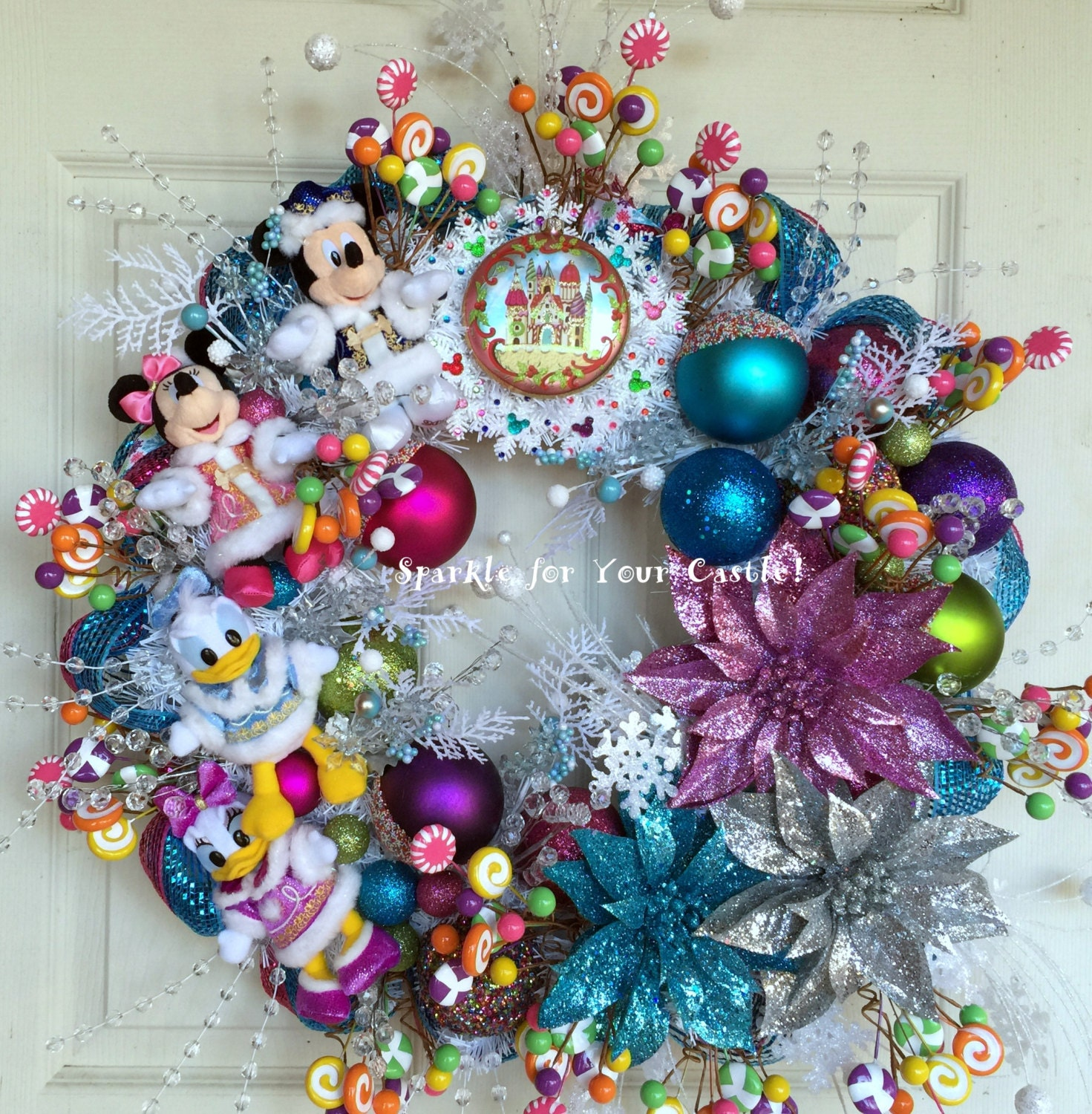 Christmas Decorations For Disneyland: Christmas Disney Wreath Micky Mouse Wreath Tokyo Disney