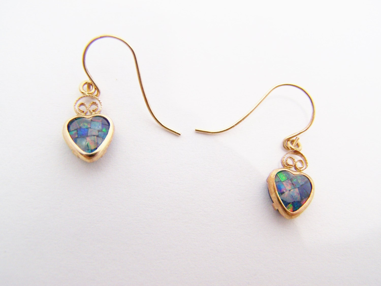 reserved for mikebritt13 black opal heart earrings october