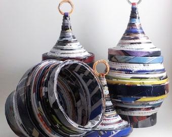 Keepsake storage urn made of magazines - first anniversary gift  - home decor