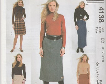 McCall's 4138 Sizes 8-10-12-14 The Perfect Wrap Skirt Sewing Pattern Uncut