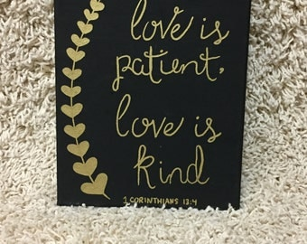 Love is patient love is kind | Etsy