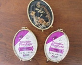 Three Vintage Oval Photo Frames Woolworth Brass Frames