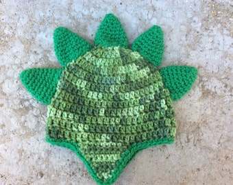 Spiked Dinosaur Crocheted Hat - Size 6-12 months