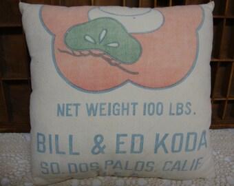 Vintage Rice Bag Pillow