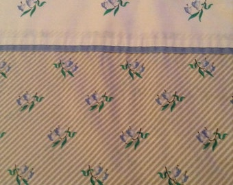 blue floral vintage sheet full flat JC Penny 50/50. Full flat free shipping