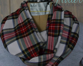 Plaid Infinity Scarf, Gift for her, Loop Scarf, Gift for Teen, Fashion Accessories.