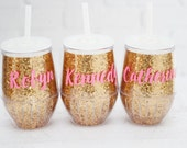 glitter wine glass // glitter cup // bachelorette party favors // bridal party gifts // girls weekend gifts // girls trip // hostess gift