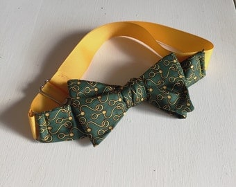 Green Hook & Loop Bow Tie