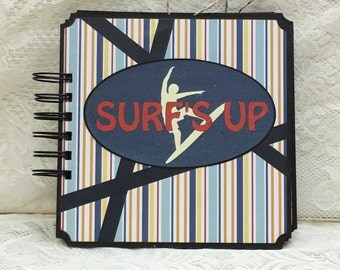 6 x 6 Surf's Up premade chipboard scrapbook with spiral binding