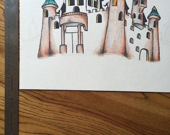 Set Design drawing by Jim Perleberg