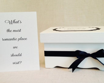 Wedding Keepsake Books + Box  * Wedding Advice Books