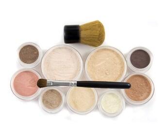 60% OFF - 12pc MAKEUP KIT - Getting Started Set - Natural Vegan Mineral Makeup