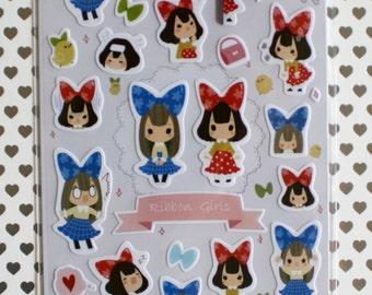 Ribbon Girl Sticker Sheet