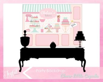 Cupcake Birthday Party Backdrop