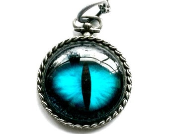 Dragon Eye Necklace Steampunk Game of Thrones Inspired pendant Handmade Gift