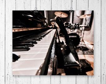 Music Studio Print Rock And Roll Art Music Decor Home Decor Musician Gift Husband Gift Music