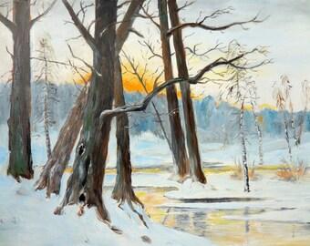 "Replica of M. K. Piotrowski's ""Winter Landscape"""