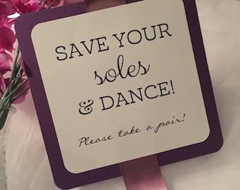Flip Flop Sign for Wedding // Flip Flop Basket Sign // Dancing Shoes Sign // Flip Flop Socks