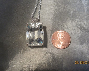 Large Cushion cut Natural Kunzite Pendant