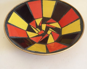 Vintage Mid Century modern tile bowl