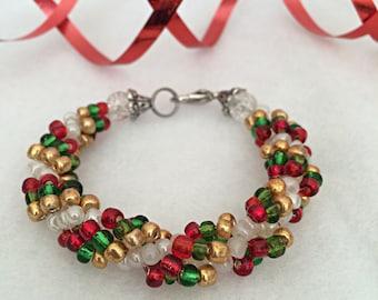 Glass Christmas Bracelet Gift For Her