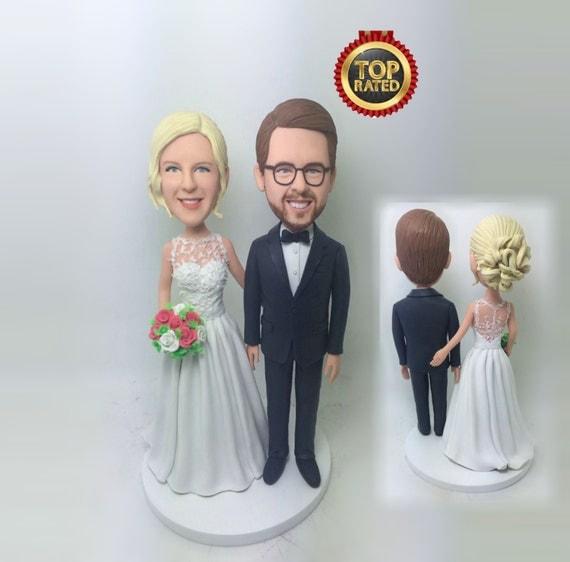 custom wedding bobblehead custom wedding cake topper wedding. Black Bedroom Furniture Sets. Home Design Ideas