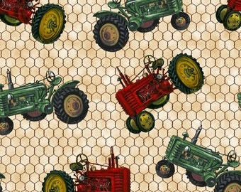 Down on the Farm Tractors from Blank Quilting. 8186 Ecru