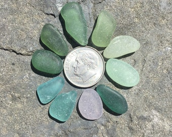 Genuine Sea Beach Glass, Real, Vintage, Beach Gypsy, Mermaid Mystic, Beach Stones, Gift, Antique Glass, Aqua, Moss, Mint, Seafoam