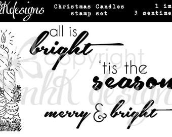 Christmas Candles Digital Stamp Set
