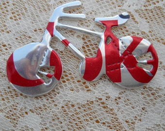 Bicycle Soda Can Magnet or Tree Ornament, made from a diet coke can