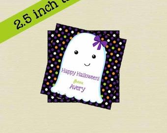 Printable Halloween, Ghost Girl Halloween Gift Tag