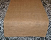 """Hemmed 14"""" Wide Sultana Burlap Table Runner or Table Square, Rustic, Country Home Decor, Wedding Decor, Custom Table Runner, Table Square"""