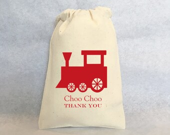"20 Train party, Choo Choo train favors, Train favors, choo choo train, Train Party Favor Gift Bags -  5""x8"""