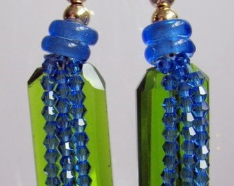 Bold statement, one-of-a-kind, original, hand-made dangle earrings. 04