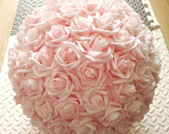 "Light Pink kissing Ball Pomanders 15"" Foam Rose Flower Balls For Wedding Centerpieces Decor"