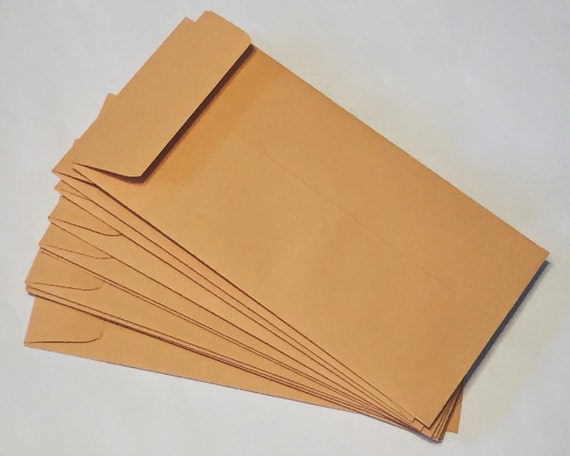 "Kraft Coin Envelope,  3 1/2"" x 6 1/2"" no.7 size (set of 25) 3.5 x 6.5 / Perfect for Response Cards, Thank You Notes, Moving Announcements"