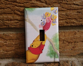 Winnie the Pooh and Piglet Light Switch Cover, Winnie the Pooh Decor, Piglet Decor, Pooh Nursery, Baby Shower, Piglet Decoration, Gift, WTP2
