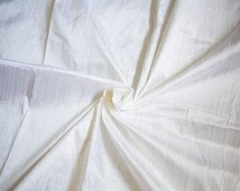 White Silk Dupioni by the Half Yard