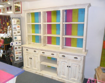 Custom made store hutch from reclaimed wood USA made