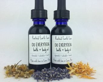 Do Everything Bath + Body Oil - Massage Oil - Herbal Oil - Eczema Oil - Psoriasis Oil - Eczema Treatment - Psoriasis Treatment