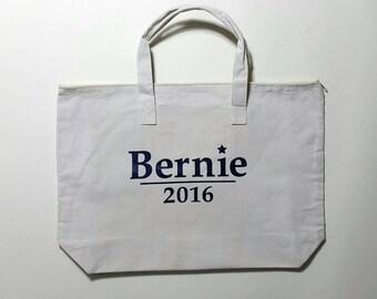 Bernie Sanders  Zippered Tote Bag