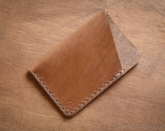 The Minimalist micro card wallet or business card holder - tan